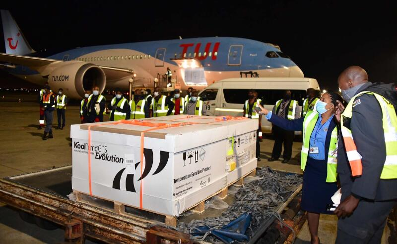 South Africa received its first delivery of the Johnson & Johnson Covid-19 vaccine at OR Tambo International Airport late on Tuesday.