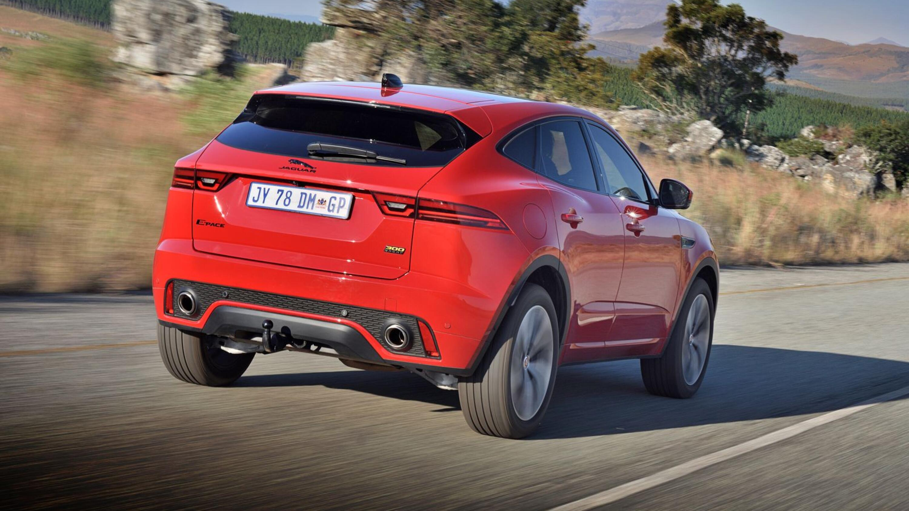 2021 Jaguar E-Pace comes as a plug-in hybrid (PHEV) or you can go for the thundering 221kW P300 Sport version shown here