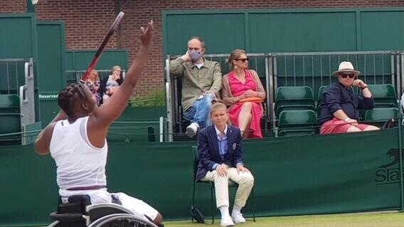 South African wheelchair tennis star Kgothatso Montjane beat Japan's Momoko Ohtani to reach her first ever Wimbledon final on Friday
