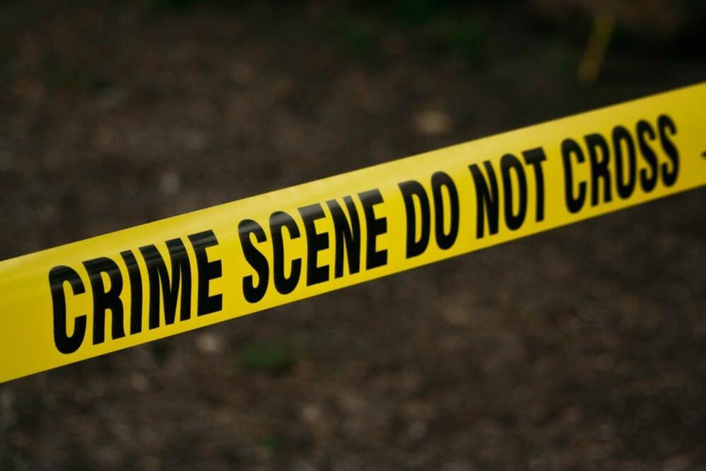 Police crime scene tape.