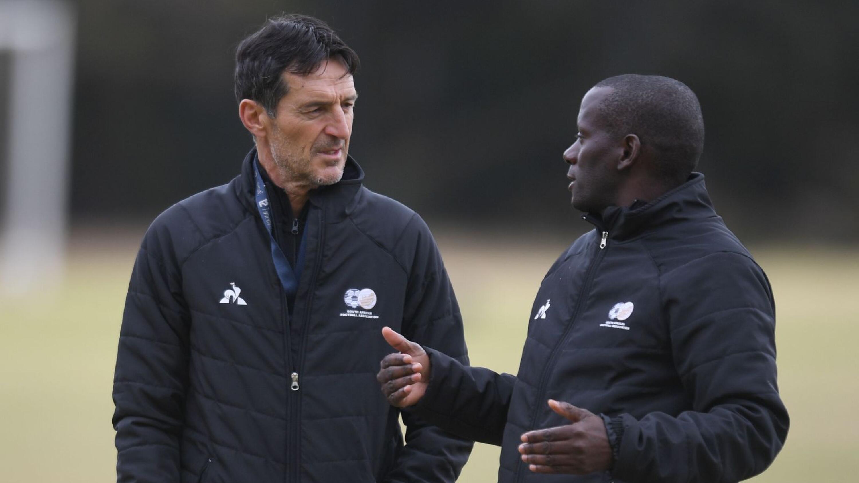 Bafana Bafana assistant coaches Cedomir Janevski and Helman Mkhalele