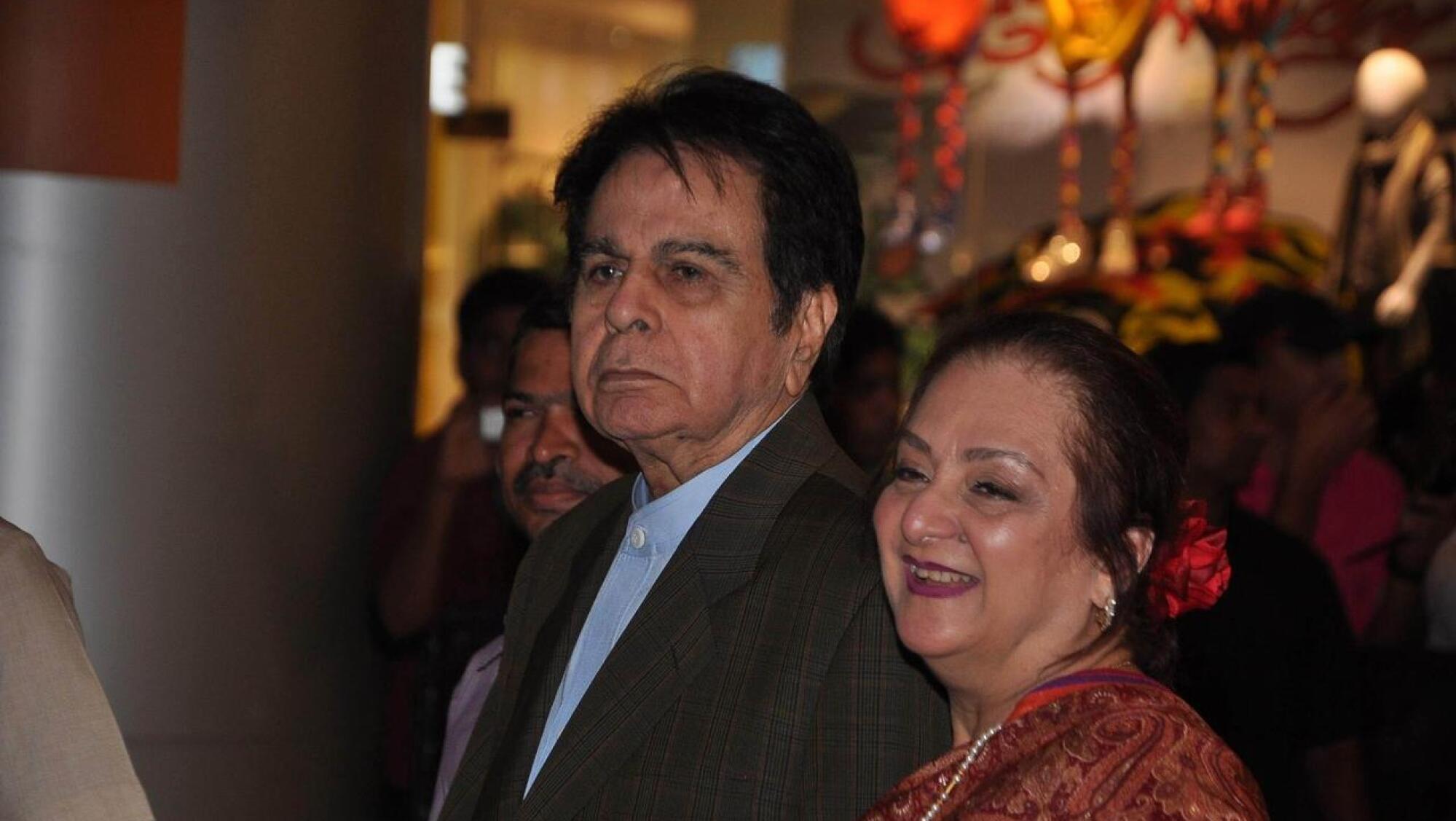 Dilip Kumar with his wife Saira Banu.