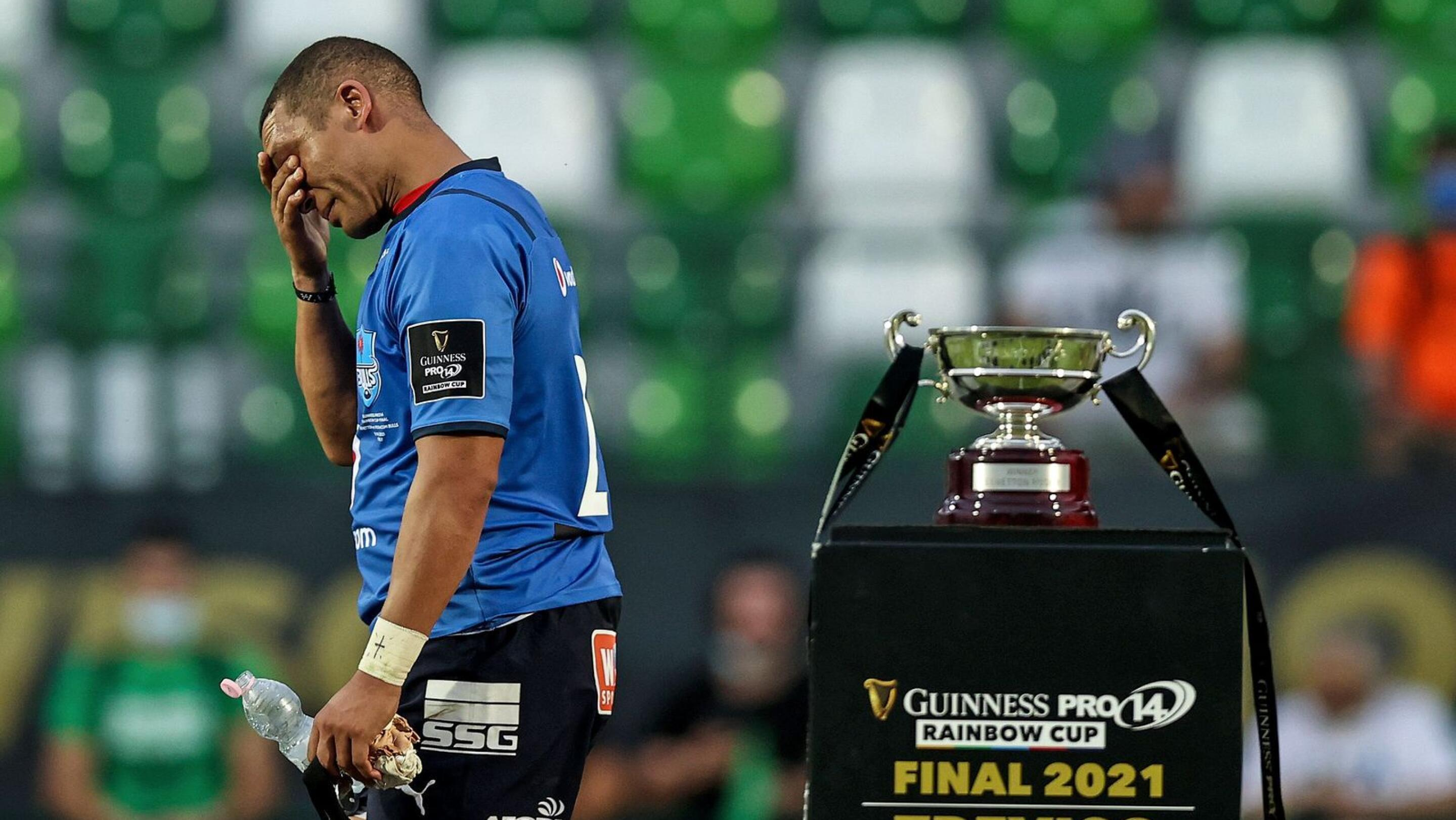 Bulls back Gio Aplon looks dejected after the Rainbow Cup final against Benetton on Saturday evening