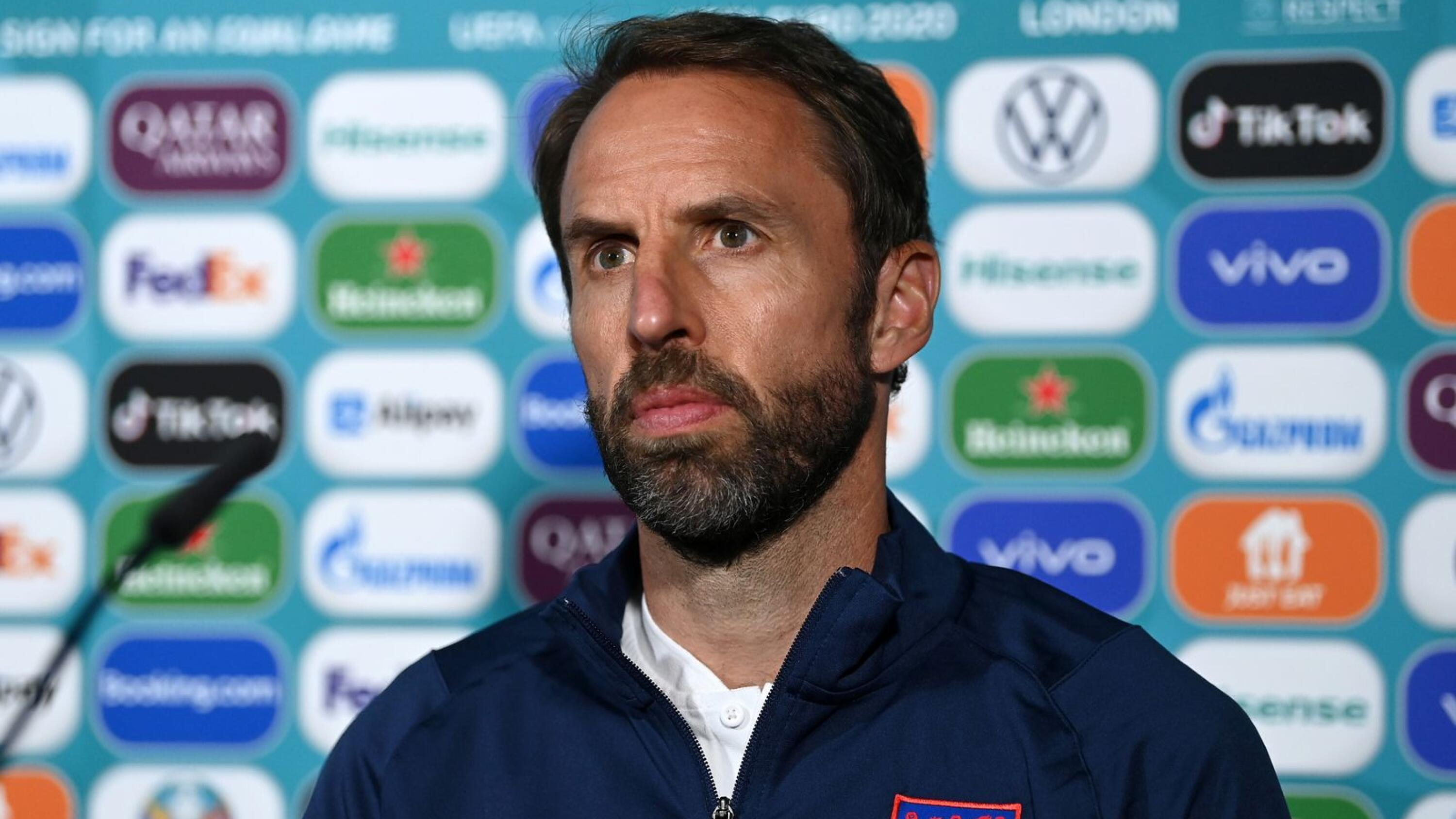England manager Gareth Southgate during a press conference ahead of their Euro 2020 match against Scotland