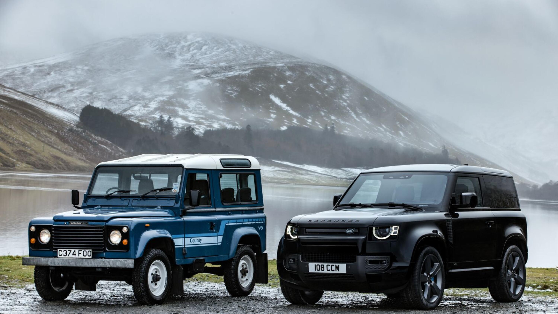 1986 Land Rover Defender meets 2021 Land Rover Defender