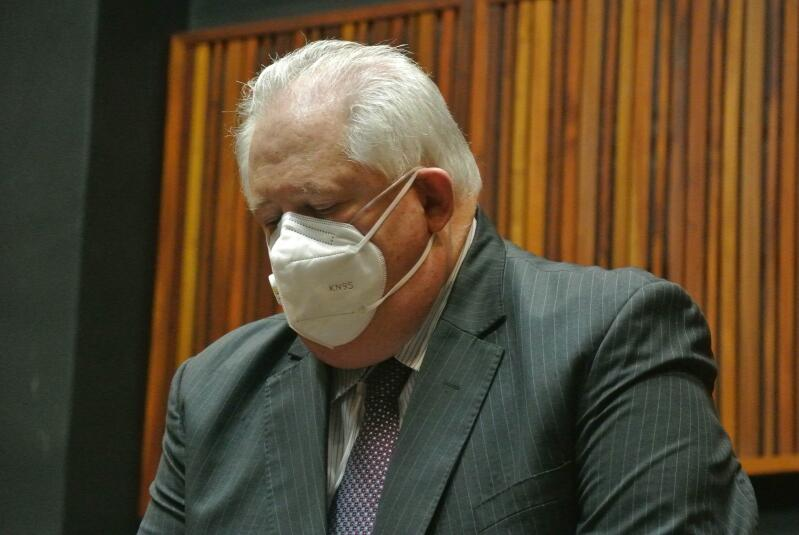 Angelo Agrizzi sits in court.