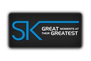 Blue, black and white Ster-Kinekor logo