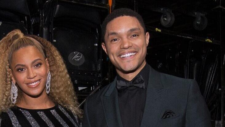 Beyoncé and Trevor Noah