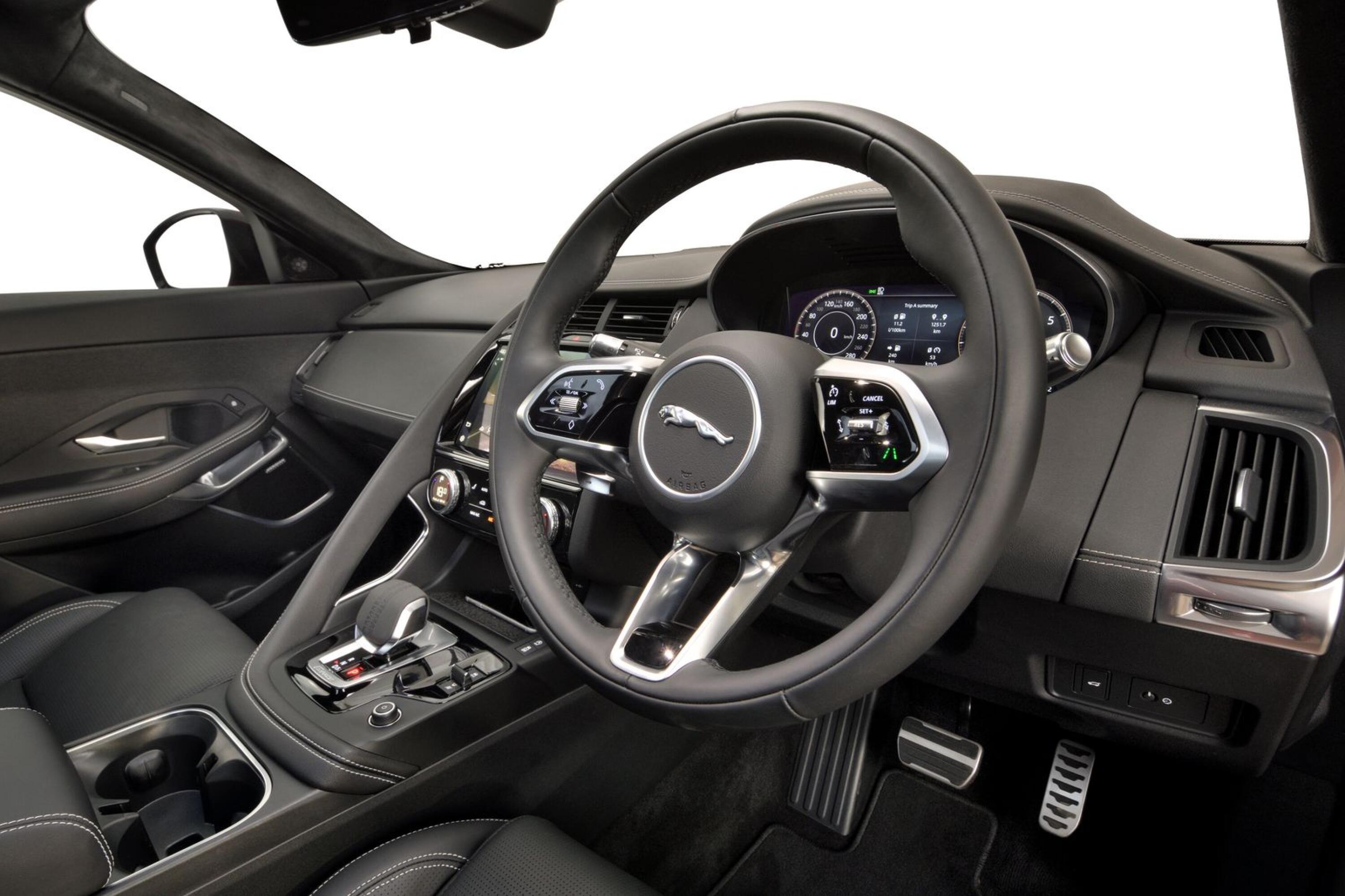 The 2021 Jaguar E-Pace looks more like the company's all-electric I-Pace on the inside now thanks to a new steering wheel and striking detailing