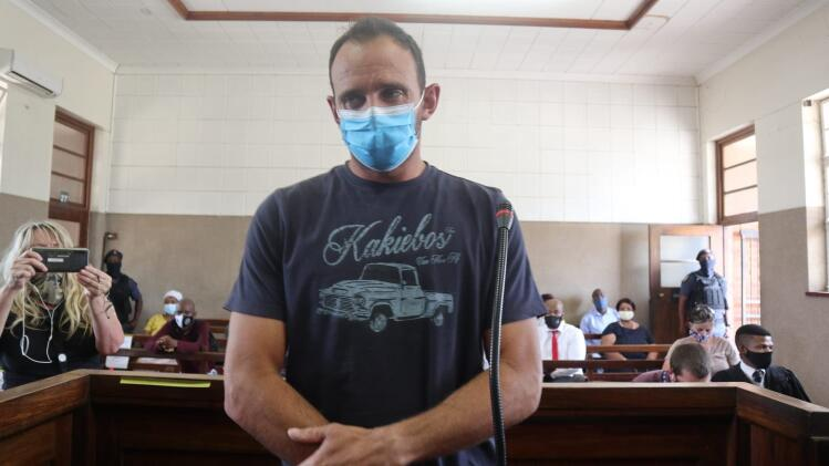 Stefanis Johannes Fourier appeared in the Senekal Magistrate's Court in the Free State on Monday. He is charged with arson, damage to property, incitement and attempted murder for the part he allegedly played in the protests that erupted in the wake of the murder of farm manager Brendin Horner in early October. Picture: Timothy Bernard/African News Agency/ANA