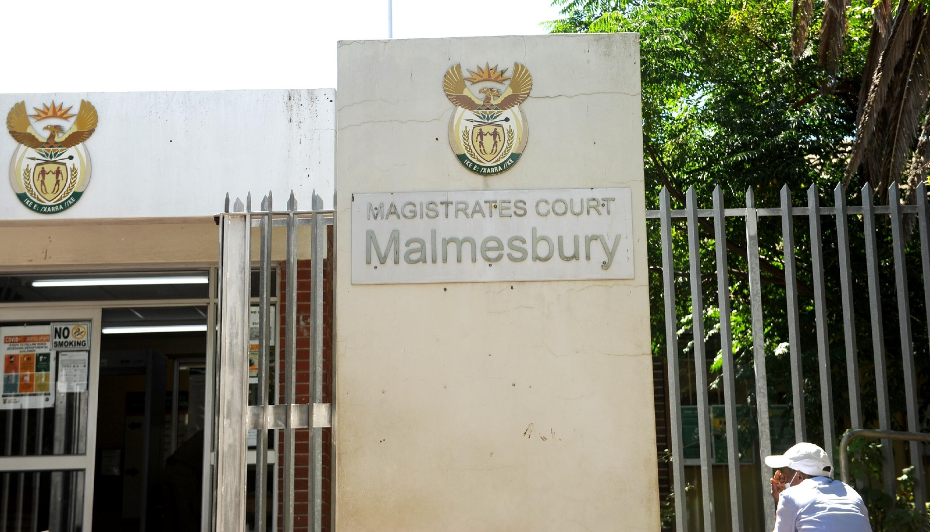 The outside of the Malmesbury Magistrate's Court.