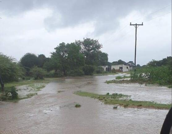 A flooded area in KwaZulu-Natal.